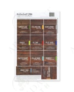 "Rollerball ""Men"":  Waterproof Assorted Labels (11 Count)"
