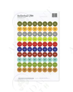 "Rollerball ""Men"":  Waterproof Sticker Tops (88 Count)"