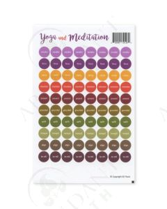 """Yoga and Meditation"": Lid Stickers (88 Count)"