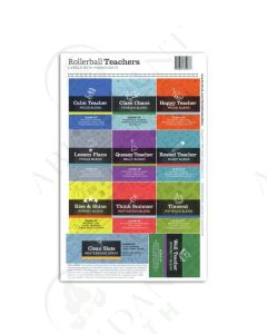 "Assorted Waterproof Labels: Rollerball ""Teachers"" (11 Count)"