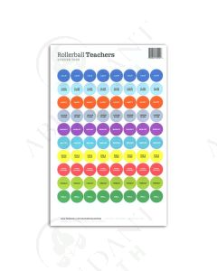 "Waterproof Sticker Tops: Rollerball™ ""Teachers"" (88 Count)"