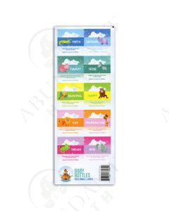 "Rollerball ""Baby Bottle"":  Waterproof Assorted Labels (10 Count)"