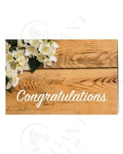 """""""Congratulations"""" Flower Greeting Card (12 Count)"""