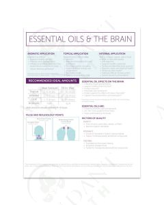"""Essential Oils and The Brain"" Foldout (25 Count)"