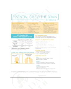 """Essential Oils and The Brain for Children"" Foldout (25 Count)"