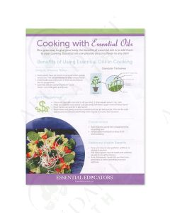 """Cooking with Essential Oils"" Handout (25 Count)"