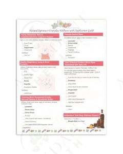 """""""Natural Options 4 Everyday Wellness with Application Guide"""" Tear Pad (50 Sheets)"""