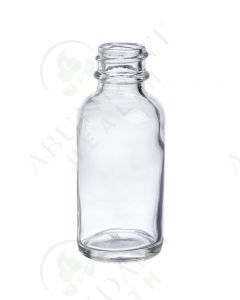1 oz. Bottle: Clear Glass, 20-400 Neck Size