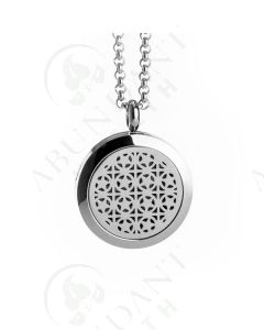 Stainless Steel Diffusing Locket: Star Burst