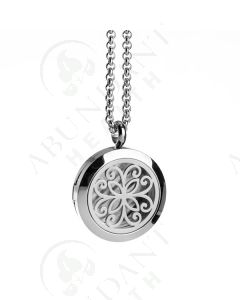 Stainless Steel Diffusing Locket: Flower