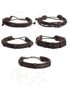 Leather Bracelet Set 3 (5 Count)