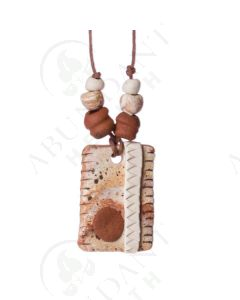 Abstract Clay Diffusing Pendant