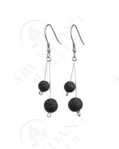 Earrings: Diffusing Lava Rock