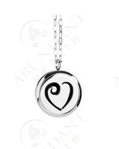 Stainless Steel Diffusing Locket: Heart