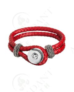Snap Leather Bracelet: Braided, for Wooden Diffusing Snaps