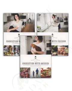Connecting Cookbook Series from The Back Porch, by Jess Wenz (Set of 3)