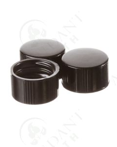Replacement Black Cap: 1/4 , 5/8, and 1 dram Glass Vials (144 Count)