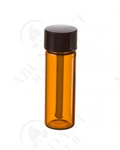 1 dram Vial: Amber Glass with Black Tester Cap (6 Count)