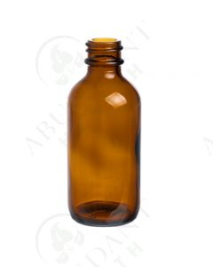 2 oz. Bottle: Amber Glass, 20-400 Neck Size