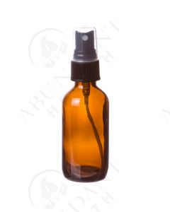 2 oz. Bottle: Amber Glass with Black Misting Spray Top
