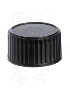 Plastic Cap: Black; 20-400 Neck Size