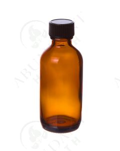2 oz. Bottle: Amber Glass with Black Cap