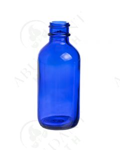 2 oz. Bottle: Blue Glass, 20-400 Neck Size
