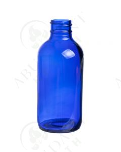 4 oz. Bottle: Blue Glass, 24-400 Neck Size