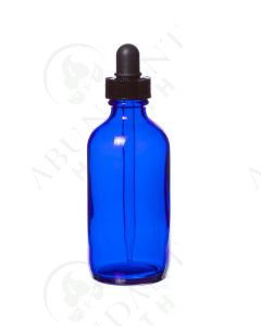 4 oz. Bottle: Blue Glass with Dropper Top