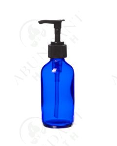 4 oz. Bottle: Blue Glass with Black Pump Top