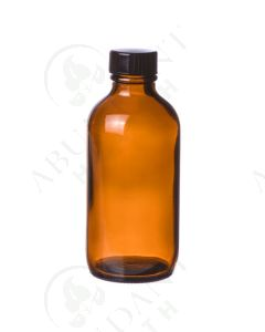 8 oz. Bottle: Amber Glass with Black Cap
