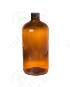 32 oz. Bottle: Amber Glass with Black Cap