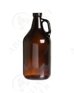 64 oz. Bottle: Amber Glass with Black Cap