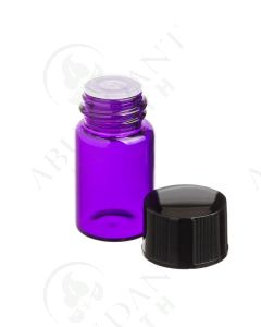 2 ml Sample Vial: Purple Glass with Orifice Reducer and Black Cap (12 Count)