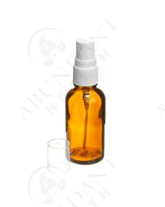 30 ml Vial: Amber Glass with White Misting Spray Top (6 Count)