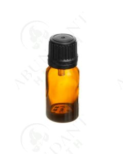 10 ml Vial: Amber Glass with Black Euro-style Cap and Orifice Reducer (6 Count)