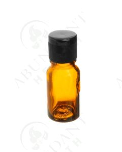 10 ml Vial: Amber Glass with Black Snap-Top Cap (6 Count)
