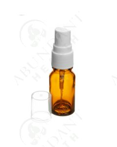 10 ml Vial: Amber Glass with White Misting Spray Top (6 Count)