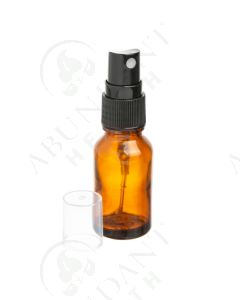 15 ml Vial: Amber Glass with Black Misting Spray Top (6 Count)