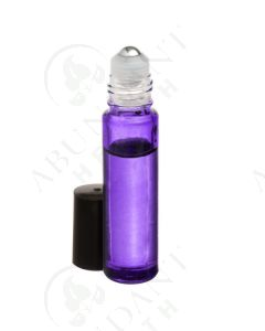 1/3 oz. Roll-on Vial: Purple Glass with SpringLock Metal Roller and Black Cap (6 Count)