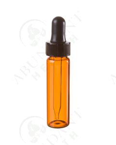 4 dram Vial: Amber Glass with Dropper Cap (6 Count)