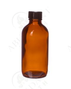 4 oz. Bottle: Amber Glass with Black Cap