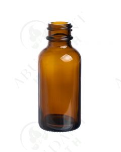 1 oz. Bottle: Amber Glass, 20-400 Neck Size