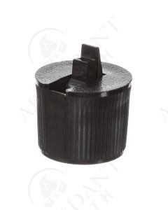 Plastic Cap: Black; Flip-top for Some 2, 4, and 8 oz. Bottles; 24-410 Neck Size