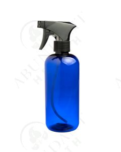 16 oz. Bottle: Blue Plastic with Black Trigger Sprayer