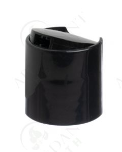 Plastic Cap: Black; Disc-top; 28-410 Neck Size