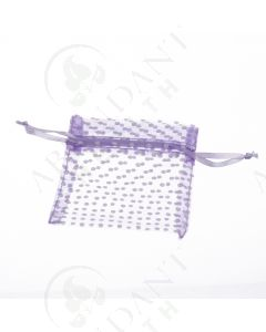 Organza Gift Bag: Purple Polka Dot (10 Count)