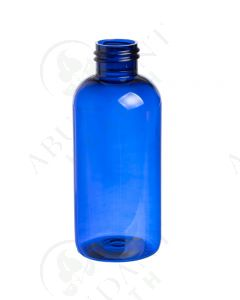 4 oz. Bottle: Blue Plastic Boston Round, 24-410 Neck Size