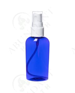 2 oz. Oval Bottle: Blue Plastic with White Misting Spray Top