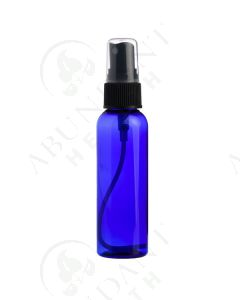 2 oz. Bottle: Blue Plastic with Black Misting Spray Top *WHITE tops will be substituted if black is unavailable